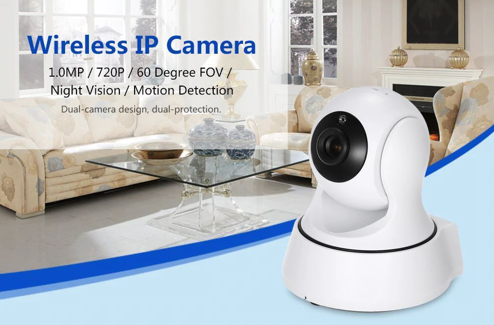 Wifi Camera Wireless CCTV Indoor IP Surveillance System 360° Panoramic HD 720P
