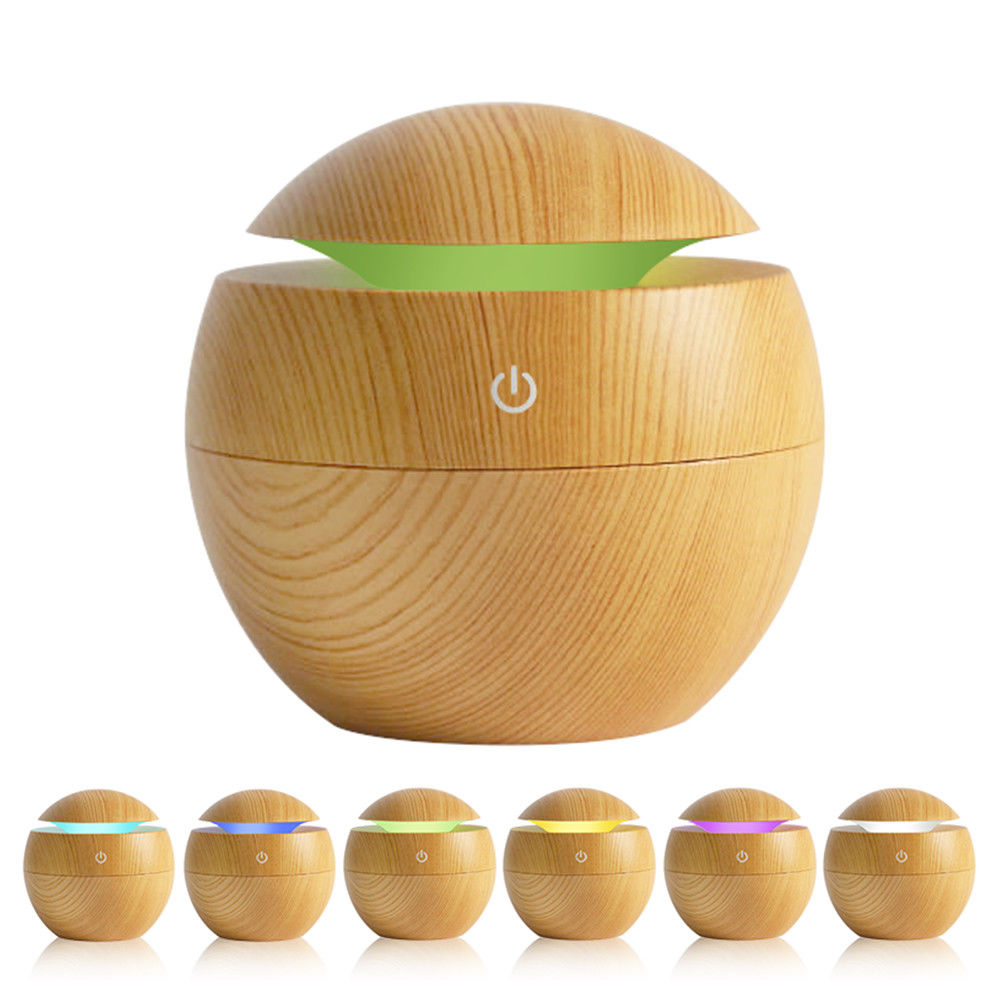 Mini Wood Gra Air Humidifiers Aromatherapy Ultrasonic Diffuser with USB