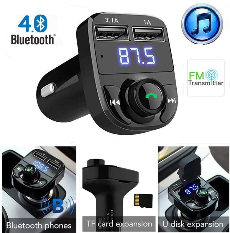 Dual USB Car Kit Fast Charger Wireless Bluetooth FM Transmitter MP3 Player lot
