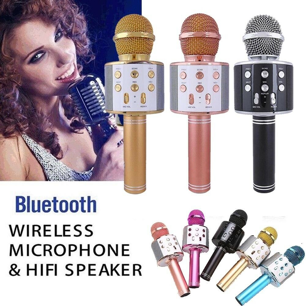 WS858 Wireless Condenser Karaoke Microphone MobilePhone Player Handheld Mic With Speaker For Family Party Outdoor