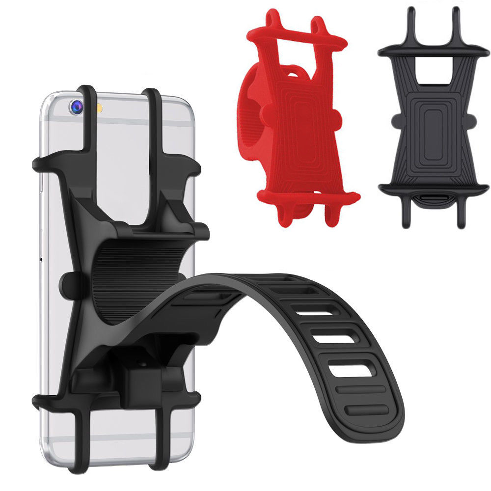Bike Silicone Phone Mount Holder Bicycle Bracket Handlebar Cradle