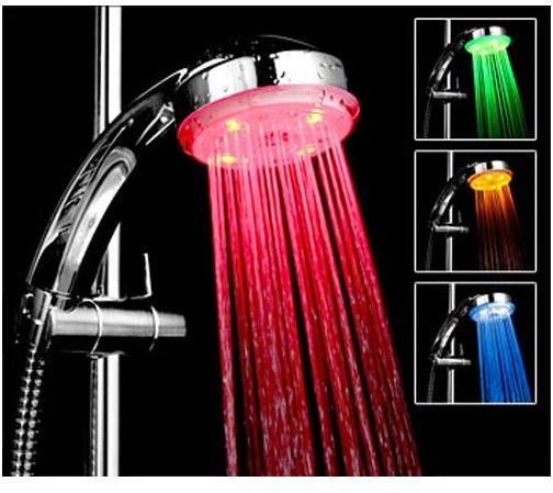 LED Shower Heads Temperature Controlled Led Shower Heads Single Holder Dual Control Design