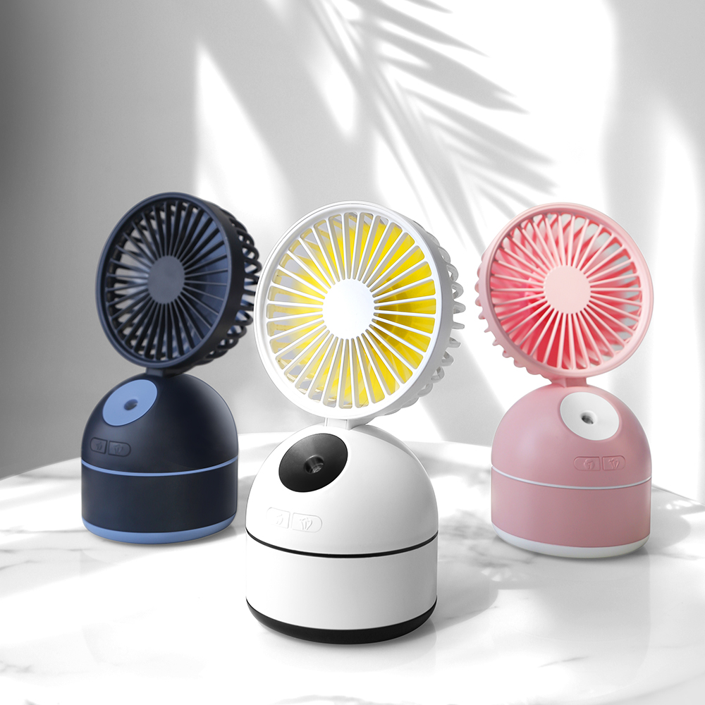 2019 Water Spray Cooling Portable Table Mist Fan Desk Electric Rechargeable USB Mini Fan+ Humidifier