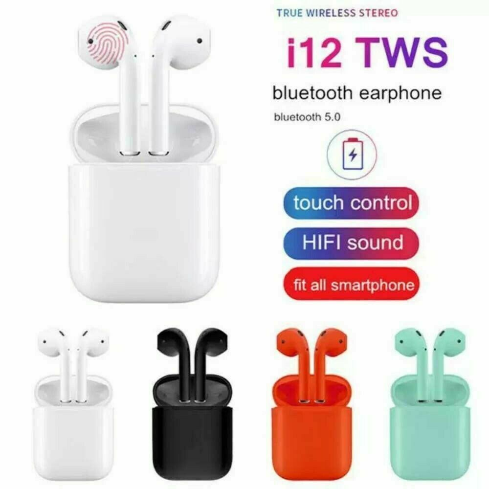 New Trending Product i12 TWS Wireless Earbuds 5.0 BT Earphone Headphone Touch Control Sport True BT Headset
