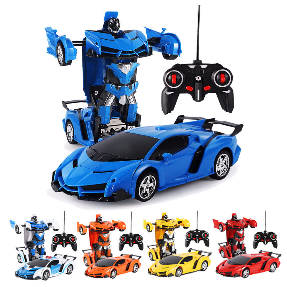 1:18 Transformer RC Robot Car Remote Control 2 IN 1 Kids Boys Vehicle