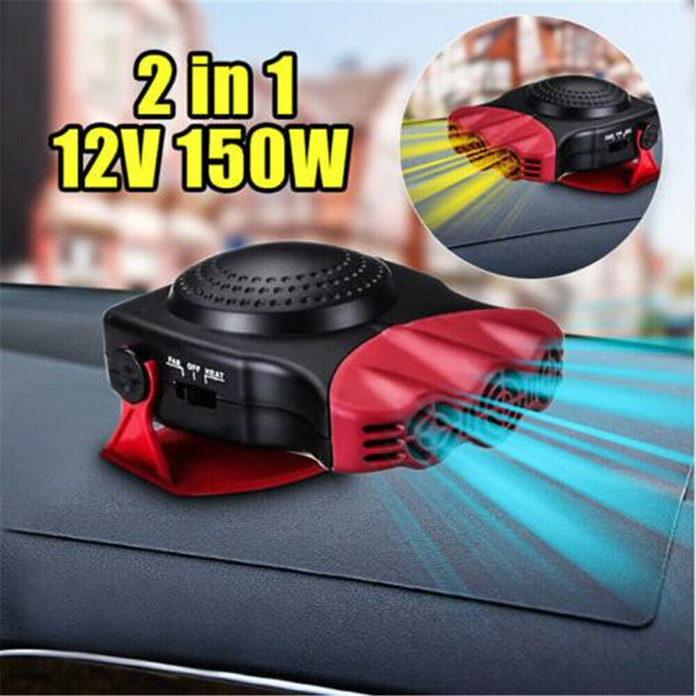 Car Ceramic Heating Cooling Heater Fan Defroster Demister Portable 2 in1 Upgrade
