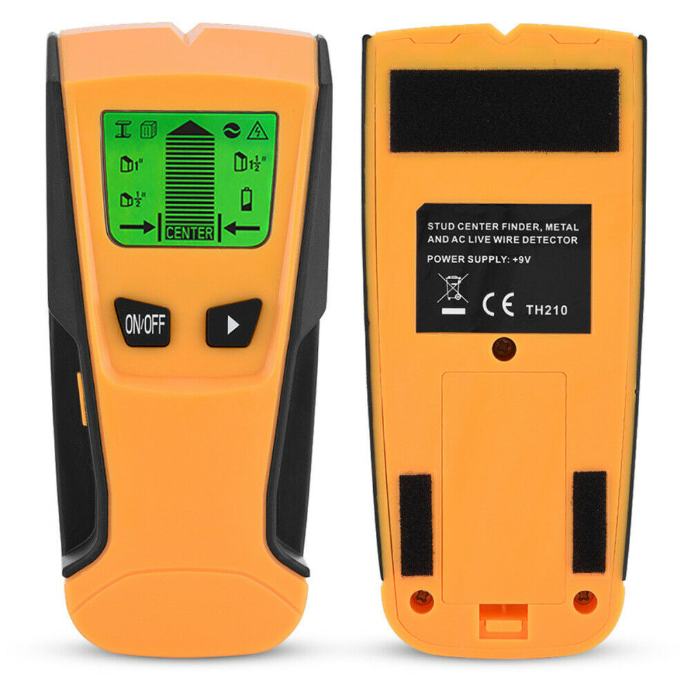 3in1 LCD Stud Wood Wall Center Finder Scanner Metal AC Live Wire Detector Tool