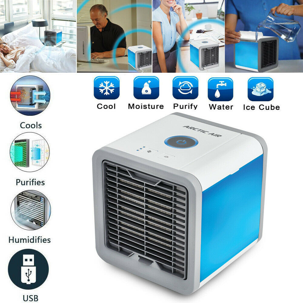 Portable Air Conditioner Mini Air Cooler Fan LED Humidifier Cooling Fan Purifier